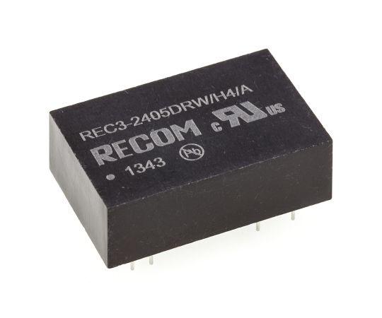 絶縁DC-DCコンバータ Vout:±5V dc 18 → 36 V dc 3W 24 V dc  REC3-2405DRW/H4/A