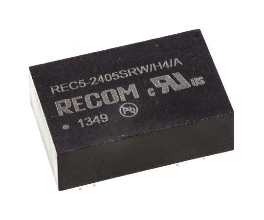 絶縁DC-DCコンバータ Vout:5V dc 18 → 36 V dc 5W 24 V dc  REC5-2405SRW/H4/A