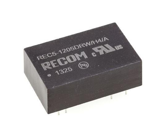 絶縁DC-DCコンバータ Vout:±5V dc 9 → 18 V dc 5W 12 V dc  REC5-1205DRW/H4/A
