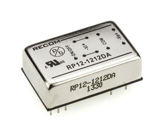 絶縁DC-DCコンバータ Vout:±12V dc 9 → 18 V dc 12W 12 V dc  RP12-1212DA