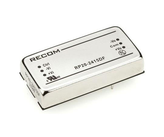 絶縁DC-DCコンバータ Vout:±15V dc 18 → 36 V dc 20W 24 V dc  RP20-2415DF