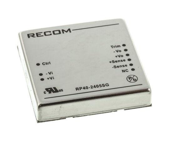 絶縁DC-DCコンバータ Vout:5V dc 18 → 36 V dc 40W 24 V dc  RP40-2405SG