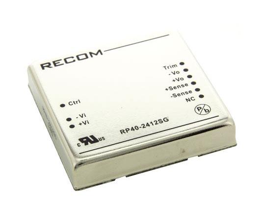 絶縁DC-DCコンバータ Vout:12V dc 18 → 36 V dc 40W 24 V dc  RP40-2412SG