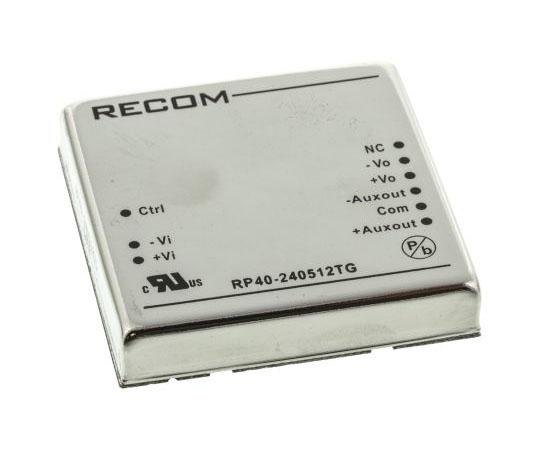 絶縁DC-DCコンバータ Vout:5/±12V dc 18 → 36 V dc 40W 24 V dc  RP40-240512TG