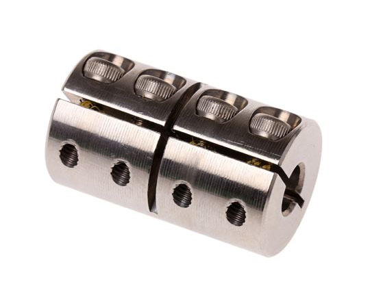 S/steel rigid 1piece coupler,6x6mm bore  MCLX-6-6-SS