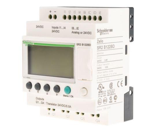 ロジックモジュール ディスプレイ付き トランジスタ 4 x Output 24 V dc  SR2B122BD