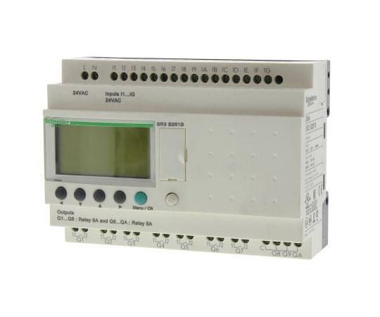 ロジックモジュール ディスプレイ付き リレー 10 x Output 24 V ac Zelio Logic  SR3B261B