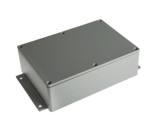 アルミケース アルミニウム 202 x 120.8 x 54.9mm グレー  479-9984