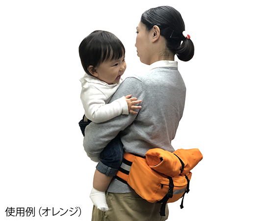 避難くん 防災バッグキャリー ネイビー  01-123