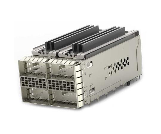 [取扱停止]ケージアセンブリ ZQSFPシリーズ 38極 メス ストレート 4ポート  2299870-2