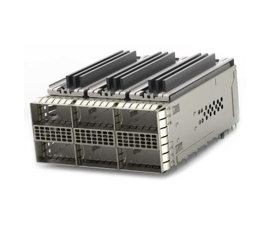 [取扱停止]ケージアセンブリ ZQSFPシリーズ 38極 メス ストレート 6ポート  2299924-2