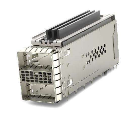 [取扱停止]ケージアセンブリ ZQSFPシリーズ 38極 メス ストレート 2ポート  2299940-2