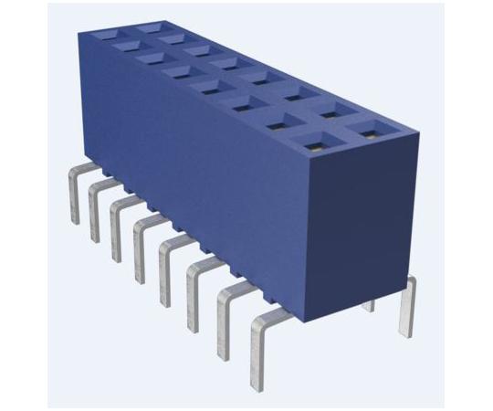 基板接続用ソケット DUBOX シリーズ 2.54mm 16 極 2 列 垂直 スルーホール  71991-308LF