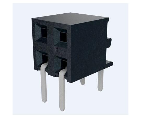 基板接続用ソケット Minitek シリーズ 2mm 6 極 2 列 ストレート スルーホール  10131932-106ULF