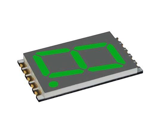 7セグメント 文字高 17.8mm 単桁 LED 数字表示器 DSM 緑  DSM7UA70105