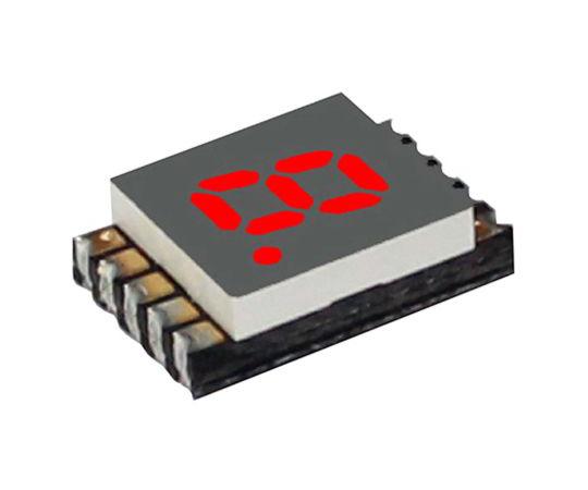 [取扱停止]7セグメント 文字高 5.1mm 単桁 LED 数字表示器 DSM 赤  DSM7UA20101