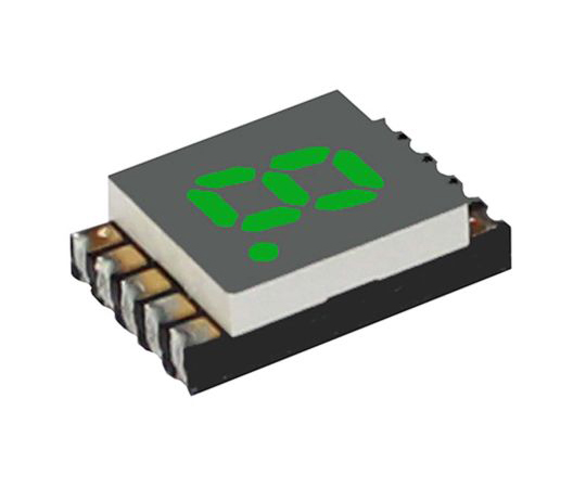 7セグメント 文字高 5.1mm 単桁 LED 数字表示器 DSM 緑  DSM7UA20105