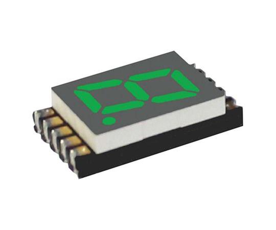 7セグメント 文字高 7.6mm 単桁 LED 数字表示器 DSM 緑  DSM7UA30105
