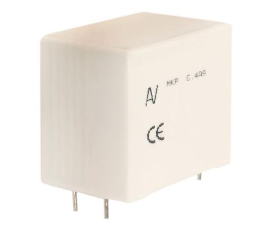 [取扱停止]ポリプロピレンフィルムコンデンサ1.2 kV dc、630 V ac1.2μF±5%  C4ASPBW4120A3JJ