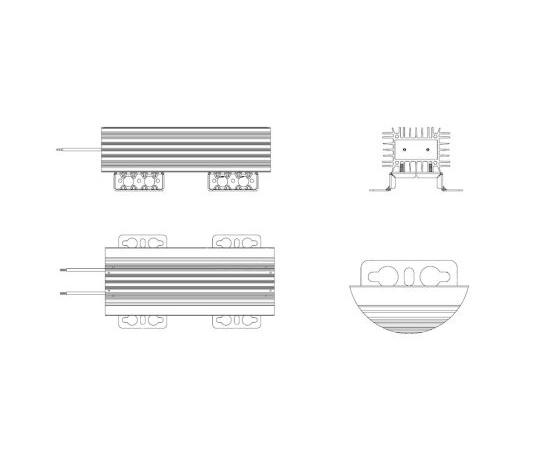 [取扱停止]ブレーキ抵抗器525W22Ω±10%  CBRV295CH777-22R-KT