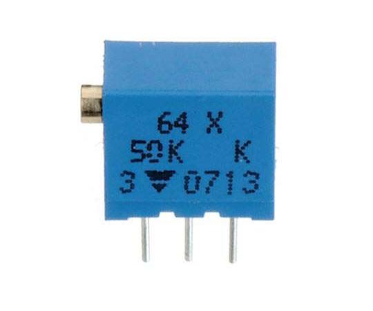 半固定抵抗器 10kΩ 0.25 W @ 85 °C 上面調整 12 スルーホール  64YR10KLF