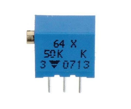 半固定抵抗器 2kΩ 0.25 W @ 85 °C 上面調整 12 スルーホール  64YR2KLF
