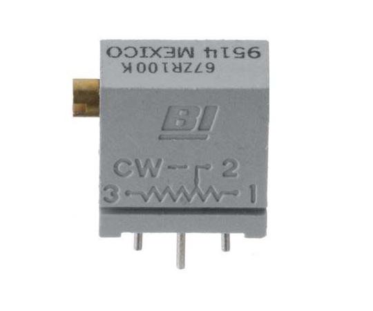 半固定抵抗器 20kΩ 0.25 W @ 85 °C 上面調整 12 スルーホール  64YR20KLF