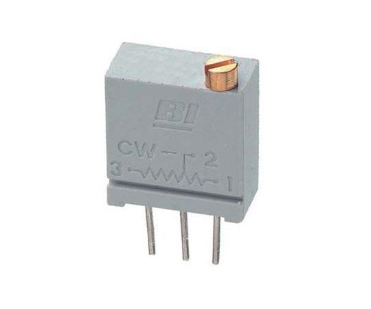 [取扱停止]半固定抵抗器 200Ω 0.5 W @ 85 °C 上面調整 20 スルーホール  67WR200LF