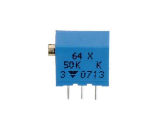 半固定抵抗器 50kΩ 0.25 W @ 85 °C 上面調整 12 スルーホール  64YR50KLF