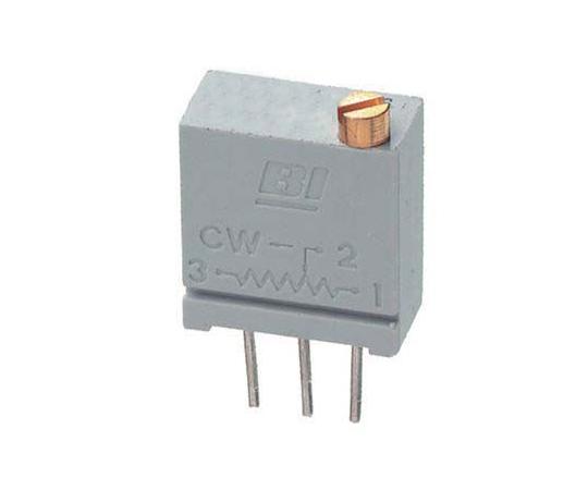 半固定抵抗器 500Ω 0.5 W @ 85 °C 上面調整 20 スルーホール  67WR500LF
