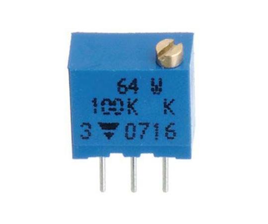 半固定抵抗器 10kΩ 0.25 W @ 85 °C 上面調整 12 スルーホール  64WR10KLF