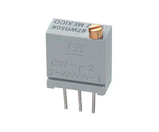 半固定抵抗器 5kΩ 0.5 W @ 85 °C 上面調整 20 スルーホール  67WR5KLF