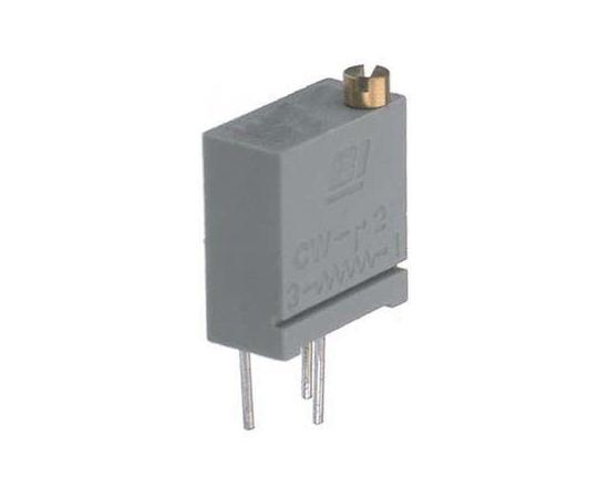 [取扱停止]半固定抵抗器 100kΩ 0.25 W @ 85 °C 上面調整 12 スルーホール  64YR100KLF