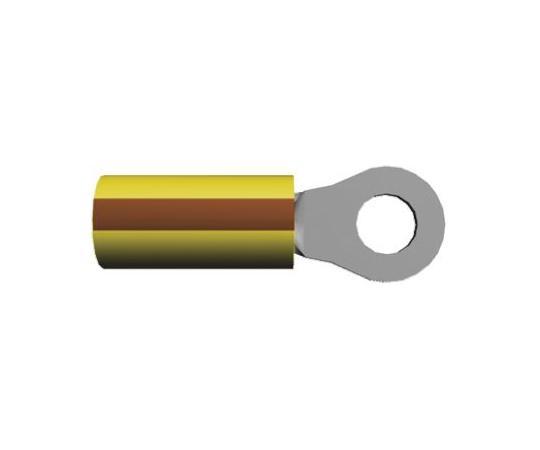 絶縁 丸形圧着端子 PIDGシリーズ 内径:0.197インチ スタッド径:M5 茶 12AWG  2-36161-4