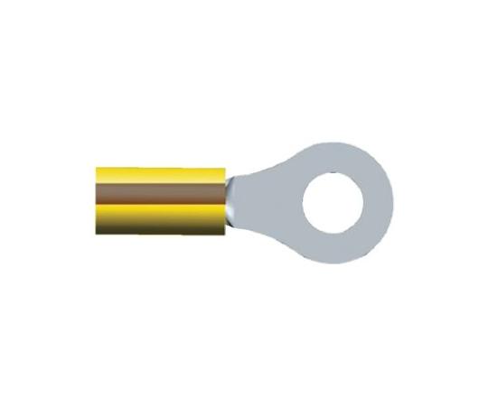 絶縁 丸形圧着端子 PIDGシリーズ 内径:6.73mm スタッド径:M6 (1/4) 茶 黄 12AWG  2-320569-6