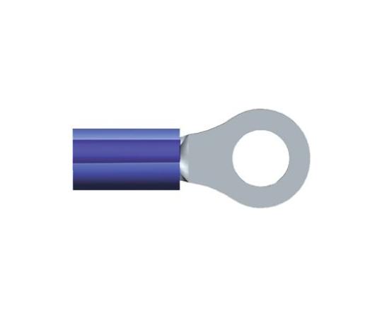 絶縁 丸形圧着端子 PIDGシリーズ 内径:0.265インチ スタッド径:M6 (1/4) 青  2-320563-3