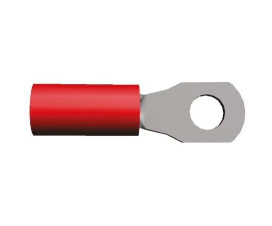 絶縁 丸形圧着端子 PIDGシリーズ 内径:3.1mm スタッド径:M2.5 赤 22AWG to 16AWG  130451