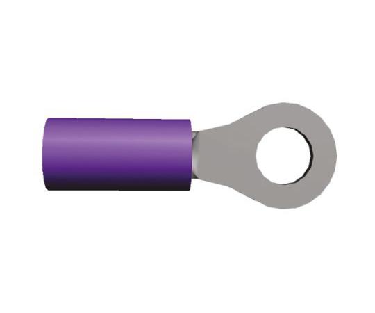 絶縁 丸形圧着端子 PIDGシリーズ スタッド径:M3.5 紫 赤 20AWG to 20AWG  152895