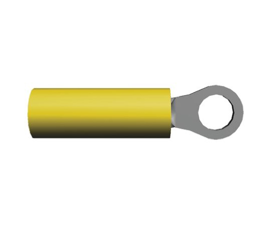 絶縁 丸形圧着端子 PIDGシリーズ 内径:2.36mm スタッド径:M2 (#2) 黄 26AWG  323912
