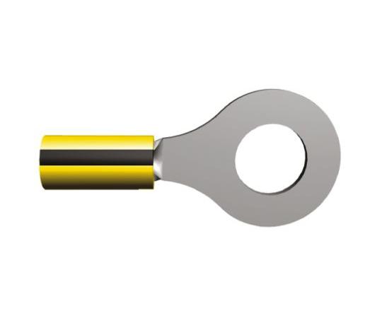 絶縁 丸形圧着端子 プラスティグリップ スタッド径:M10 黒 黄 16AWG to 14AWG  34826