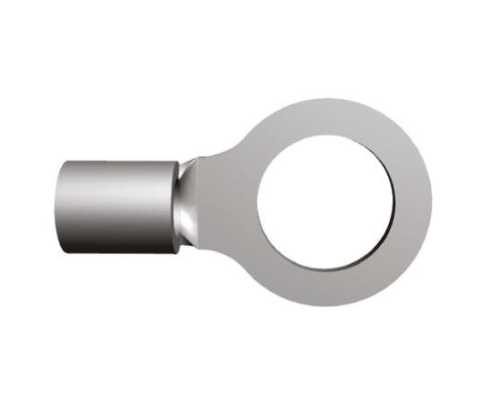非絶縁 丸形圧着端子 ソリストランド 内径:8.33mm スタッド径:M8 (5/16) 16AWG  35776