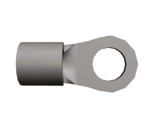 非絶縁 丸形圧着端子 Budgetシリーズ 内径:3.68mm スタッド径:M3.5 (#6) 16AWG  32186