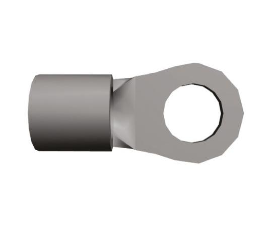 [取扱停止]非絶縁 丸形圧着端子 ソリストランド 内径:3.68mm スタッド径:M3.5 (#6) 16AWG  2-34120-1