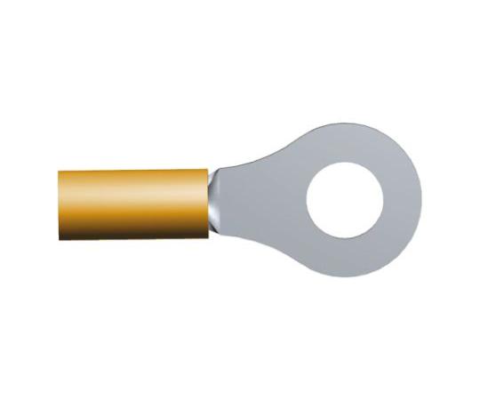 非絶縁 丸形圧着端子 DG STRATO-THERMシリーズ スタッド径:M4 オレンジ 16AWG  322337
