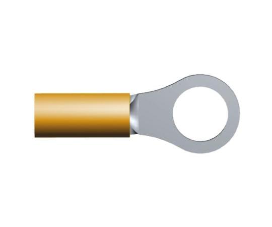 絶縁 丸形圧着端子 DG STRATO-THERMシリーズ スタッド径:M5 オレンジ 22AWG  321894