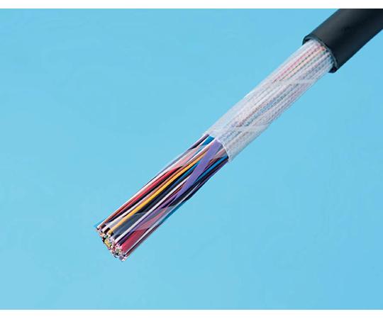 着色識別星形ポリエチレン絶縁耐燃性ポリエチレンシースケーブル  EM-CCP-P 0.65mmX100p