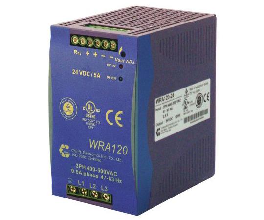 DINレール取付電源 / パネル取付電源 出力:10A 定格:120W 12V dc/  WRA120-12