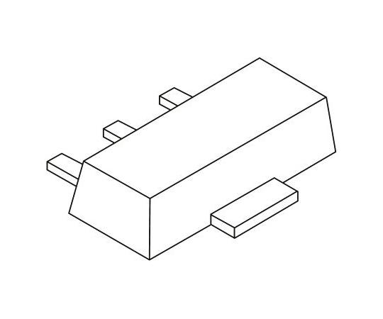 PNP トランジスタ 表面実装 250 V 50 mA 3-Pin SOT-89  BF623