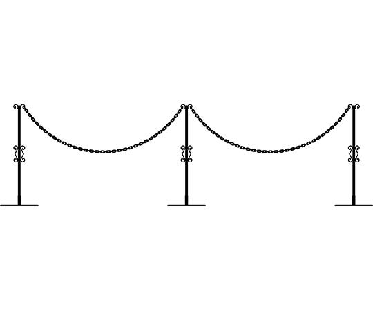 重なるチェーンスタンド3個組(チェーン2本) 1小組×3小組入  233