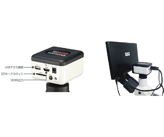 HDMIデジタルマイクロスコープ 生物顕微鏡  PantheraE-1080M